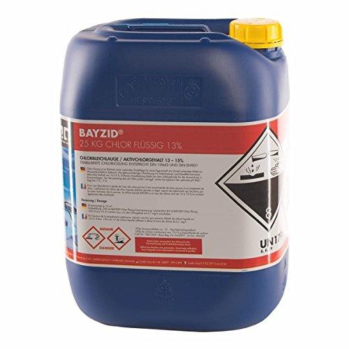 Chlor Flüssig 1 x 25 kg - Pool Flüssigchlor mit 13 bis 15 Aktivchlorgehalt zur Poolpflege und Wasserdesinfektion - Made in Germany - Höfer Chemie