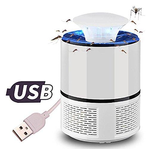 Pawaca LED-Moskito-Mörderlampe ohne Strahlung USB angetriebener ungiftiger UV-LED-Insekten-Mörder elektronische Moskito-Falle-Lampe Wanzen-Zapper mit umweltfreundlichem für Innen