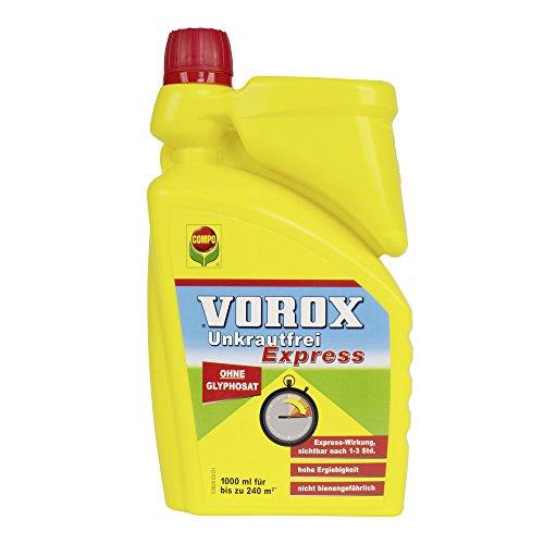 VOROX Unkrautfrei Express Bekämpfung von Unkräutern an Zierpflanzen Obst und Gemüse Konzentrat 1 Liter