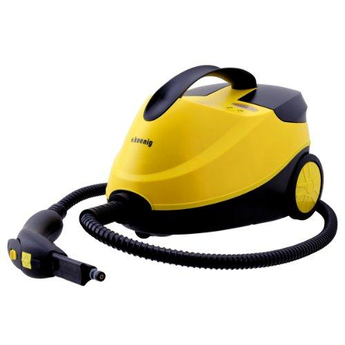 HKoenig NV6200 hochdruck Dampfreiniger  mit Zubehört-Set  4 bar  15 Liter Kapazität  45 Minuten Autonomie  2000W  gelb
