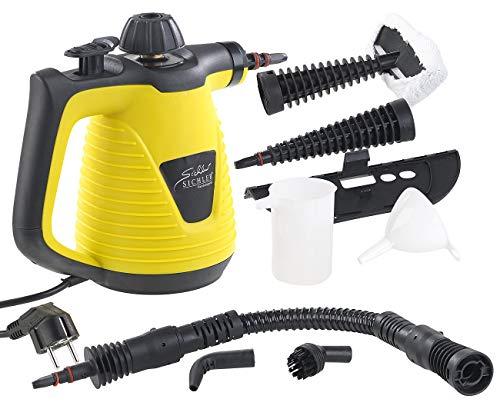 Sichler Haushaltsgeräte Hand Dampfreiniger Tragbarer Dampfreiniger mit großem Zubehör-Pack 1000 W Dampfente