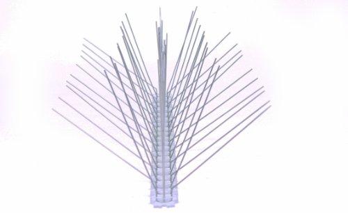 6 Stück 50 cm 5 reihig Edelstahl Taubenabwehr Vogelabwehr Taubenspikes Polycarbonat Profiqualität jetzt mit A Zertifizierung von MD