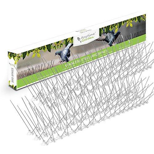 Anytime Garden Taubenspikes - Vogelabwehr Taubenabwehr aus rostfreiem Edelstahl - Gut geeignet gegen Tauben Spechte Stare Pest Control - Einfache Montage - Länge 3m