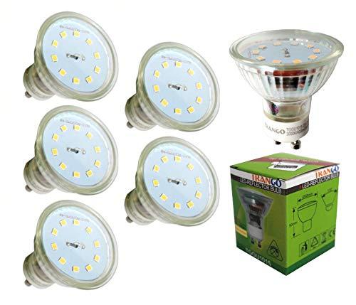 Trango 5er Pack LED GU10 Leuchtmittel -3000K warm-weiss TGGU1015 - zum Ersetzen GU10 Halogen Leuchtmittel
