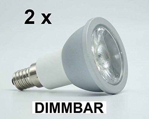 2 x 65 Watt LED Spot ALU E14Warmweiß 2700K 650 Lumen DIMMBAR Retrofit 60° Ausstrahlung entspricht ca 60 Watt Halogenspot Hochwertige Reflektorlampe in toller Optik