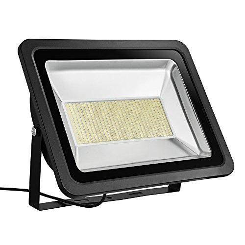 HimanJie 200W Ultraheller Fluter IP65 Wasserdicht Flutlicht ersetzt 2000W Halogenlampe LED Fluter Außenstrahler 6500K LED Scheinwerfer Außenleuchten AC 220V