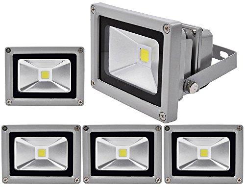 Rondaful5Stück 10W LED Fluter mit warmweißes Licht Flutlichtstrahler wasserdicht IP65 warmweiß in schwarz LED Flutlicht Scheinwerfer Wandstrahler InnenbeleuchtungAußenbeleuchtung Strahler warmlicht