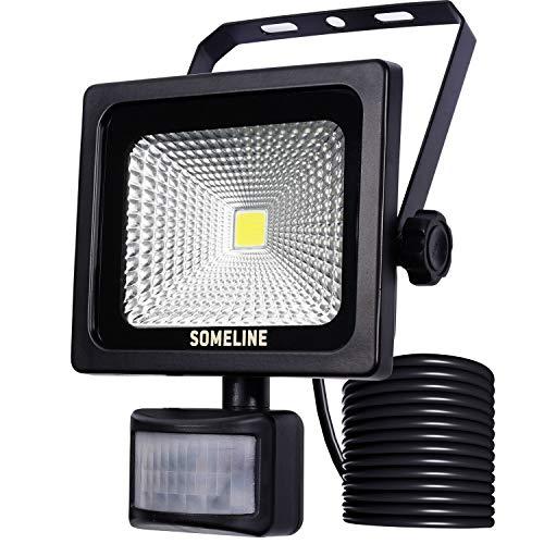 10W LED-Außenstrahler mit Bewegungssensor Sicherheitslicht LED-Flutlicht mit PIR SOMELINE IP66 Wasserdichte Flutlichtstrahler