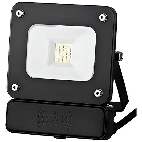10W LED Spot Außenleuchte Fluter Flutlichtstrahler SLIM Bewegungsmelder schwarz 1380