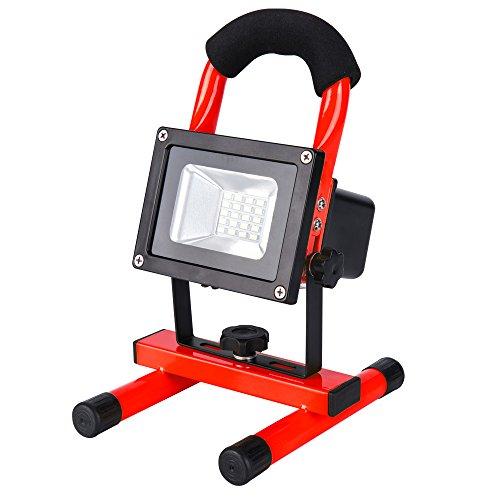Led Akku Strahler Lampe Baustrahler - 10W Arbeitsleuchte 20 LEDs 100 helligkeit Garantie IP65 Wasserdicht von Roilois10W