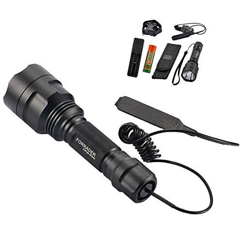 Forrader C8 superhelle Taschenlampe mit Cree-XP-L-HI-V3-LED-Lampen wasserbeständig 5 Leuchtmodi Speicherfunktion leistungsstarke taktische Taschenlampe