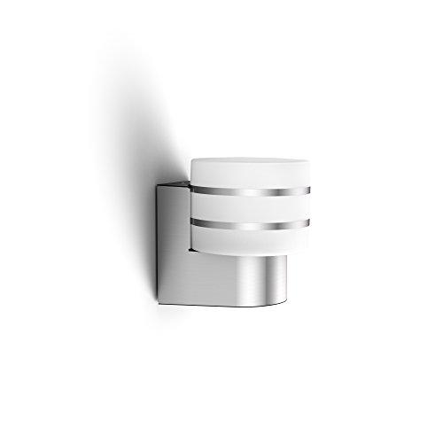 Philips Hue LED Wandleuchte Tuar für den Aussenbereich dimmbar warmweißes Licht steuerbar via App kompatibel mit Amazon Alexa Echo Echo Dot