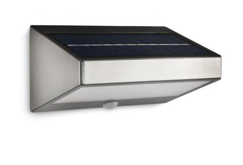 Philips myGarden 178114716 Greenhouse Solar LED Wandleuchte Edelstahl Bewegungsmelder