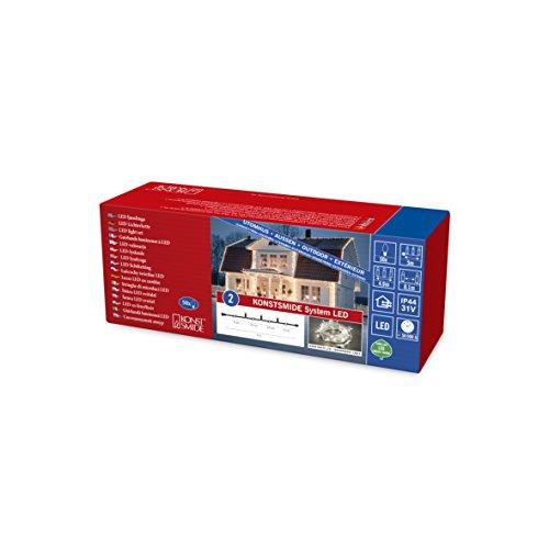 Konstsmide 4850-103 LED Hightech System ErweiterungLichterkette  für Außen IP44  50 warm weiße Diodentransparentes Kabel