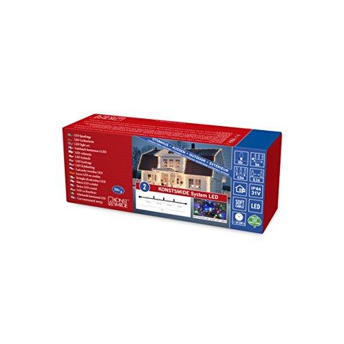 Konstsmide 4850-507 LED Hightech System ErweiterungLichterkette  für Außen IP44  50 bunte Diodenschwarzes Softkabel