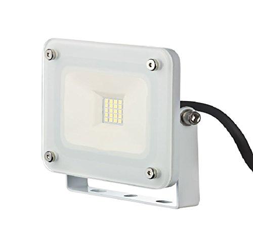 10W I-Lumen LED Flutlicht Fluter Außenstrahler Baustrahler SLIM IP65 230V weiß
