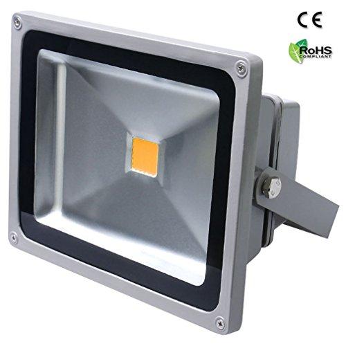 Auralum 50W LED Außenstrahler Fluter Flutlichtstrahler 4500 Lumen 230V IP65 Wasserdicht 3000K Warmweiß 10 Jahre Garantie