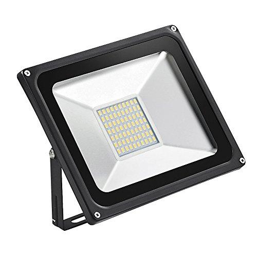 HimanJie 50W LED Fluter Außenstrahler Warmweiß extrem hell 5000 Lumen LED Scheinwerfer Außenleuchten AC 220V 50