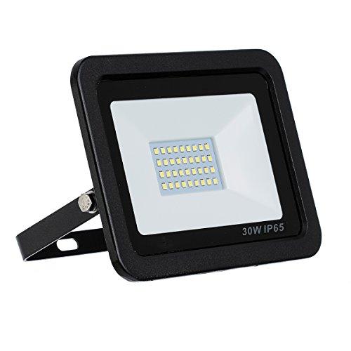 LED Strahler LED Fluter SLIM 30 Watt Kaltweiss 6000K LED Flutlicht 30W 2700 Lumen Ersetzt 300 Watt 220-240V LumenTEC 30W Kaltweiss