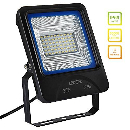 LEDGLE 35W LED Strahler Außenstrahler LED-Flutlicht 2800 Lumen ersetzt 300W Halogenlampen IP66 Wasserdicht6000K