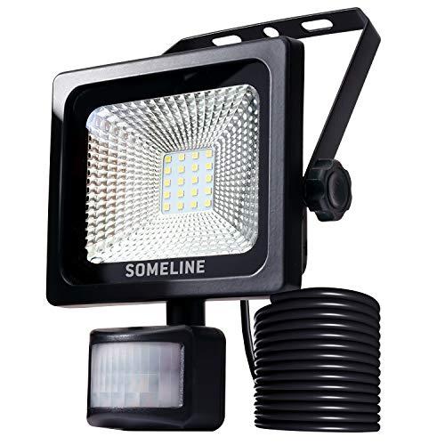 20W LED Flutlicht IP66 wasserdicht Fluter für Sicherheitsleuchten im Außenbereich mit Bewegungssensor-Licht PIR-Außenleuchten SOMELINE mit SensorEnergieklasse A
