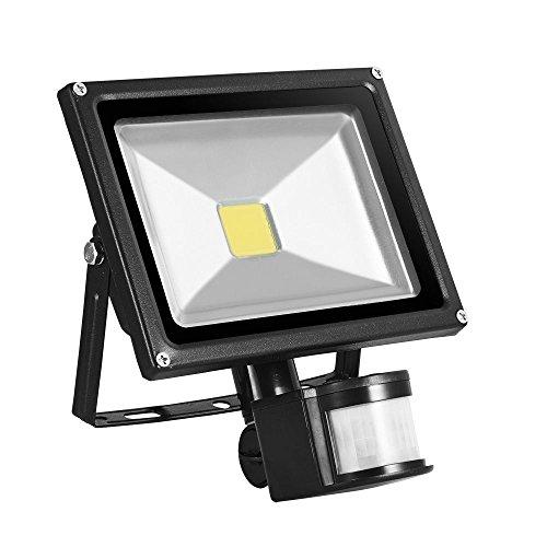 TEquem LED 20W Fluter mit Bewegungsmelder 900lm Strahler Warmweiß IP65 Wasserdicht sensor außenleuchten led Flutlicht Scheinwerfer Außenleuchten