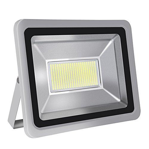 HimanJie 20W 30W 50W 100W 150W 200W 300W 500W LED Wandstrahler Lampe Außenstrahler Aluminium Strahler Flutlicht 220V IP65 200W Tageslicht
