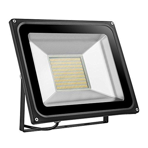 TEquem Warmweiß LED Strahler 10W 20W 30W 50W 100W 150W 200W 300W 500W LED Wandstrahler Lampe Außenstrahler Aluminium Flutlicht Fluter 220V IP65 100W