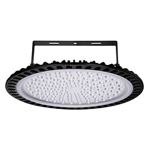 UFO LED 500W Led Hallenstrahler 6000K-6500K Kaltweiß 120°Abstrahlwinkel Industrielampe IP65 Wasserdichte - SMD2835 468 Leds