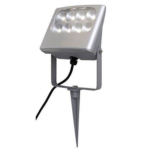 Eco Light Moderner LED-Außenfluter Negara mit Erdspieß 1540 lm 24 W 6170 SP SI