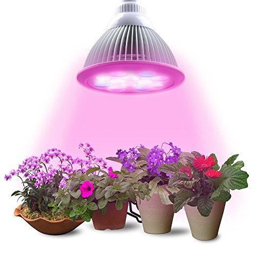 Lumin Tekco LED Pflanzenlampe E27 24W Led Wachstumslampe für Wasserpflanzen Saatgut Blumen Topf- und Zimmerpflanzen Gemüse Energieklasse A