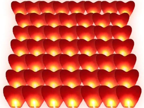 Alsino Conf 50 Laternen Herz rot