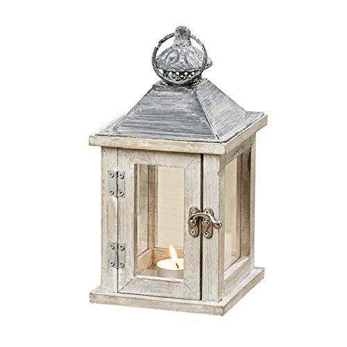 Laterne - Windlicht Holz Tanne mit Glas Windlicht für Kerze Teelicht Haus Garten - Von Haus der Herzen