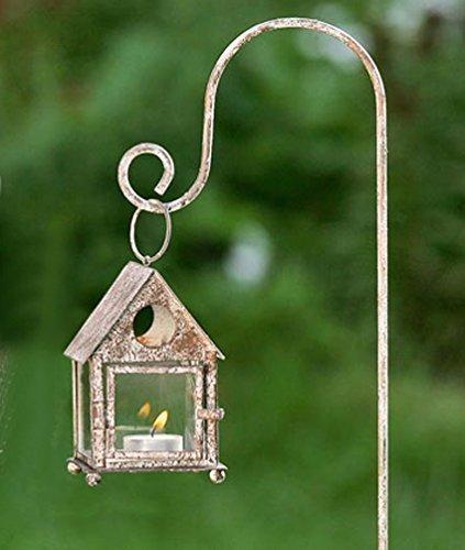Laterne mit Laternenstab Windlicht für Kerze oder Teelicht  Stab