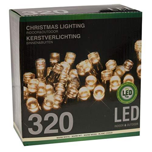 Multistore 2002 LED Lichterkette 320 LEDs warmweiß für innen und außen Strombetrieb