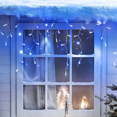 192er LED Eiszapfen Lichterkette blauweiß koppelbar 6m Typ CC