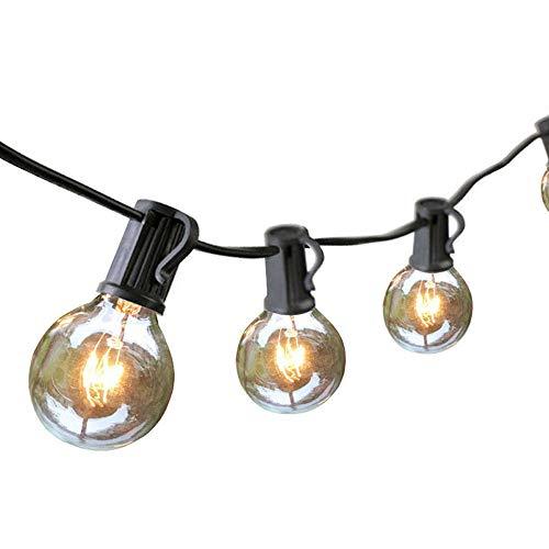 Audex Lichterkette Glühbirnen Retro Außen Wasserdicht G40 Globus Schnur Lichter 765M  25FT