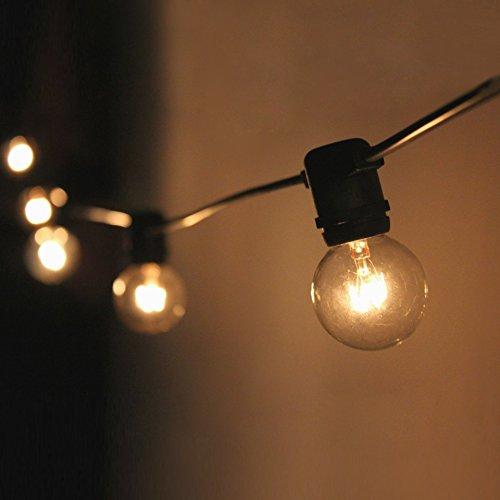 Lichterkette mit 25 glühbirnen Gartenbeleuchtung- und Innenbereich 25 ft Warmweiß End-to-End - CE Listed Wasserdicht