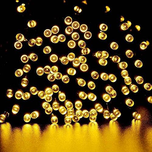 lederTEK Solar Lichterkette LED Außen Warmweiß 22m 200LED 8 Modi Außenlichterkette Wasserdicht mit Lichtsensor Weihnachtsbeleuchtung Beleuchtung für Weihnachten