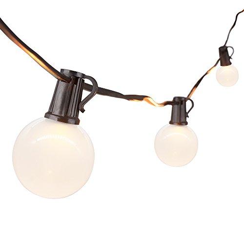 JOYIN 762 Meter Party-Lichterkette für Außen und Innen - 25 Warmweiße LED-Lampen