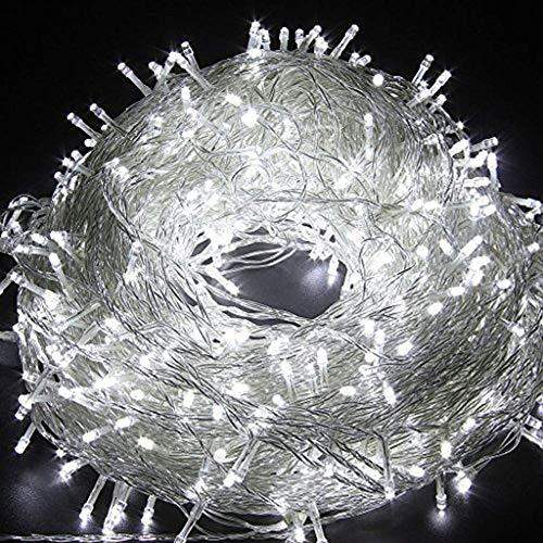 AIZESI 2000cm Lichterkette Batterie Außen Lichterkette Solar Aussen LED Lichterkette Warmweiß Innen 200 LEDs für Kinder SchlafzimmerHochzeitWeihnachtsbaumWeiß