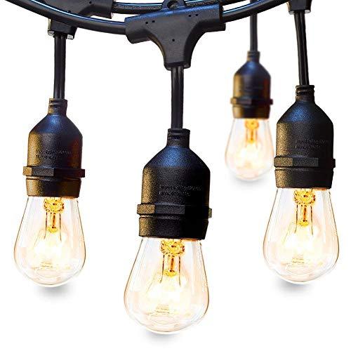 LED lichterkette außen Lichterkette Set 9 x E27 Fassung Lichtschnur Dekolampe 10m IP65 Wasserdicht Dekolicht für Haus Dekoration Garten Party Hochzeit Weihnachten Feier(keine Birne enthält )