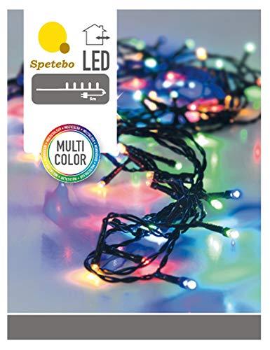 LED Lichterkette mit 80 LEDs bunt - Innen und Außen - Mit Controller 8 Funktionen und Speicherchip