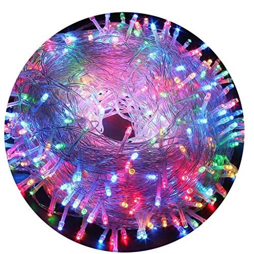 AIZESI Regenbogen Lichterkette 20m LED Innen Batterie Lichterkette Außen 200 LED Lichterkette für Kinder SchlafzimmerHochzeitWeihnachtsbaumFestival PartyGarten