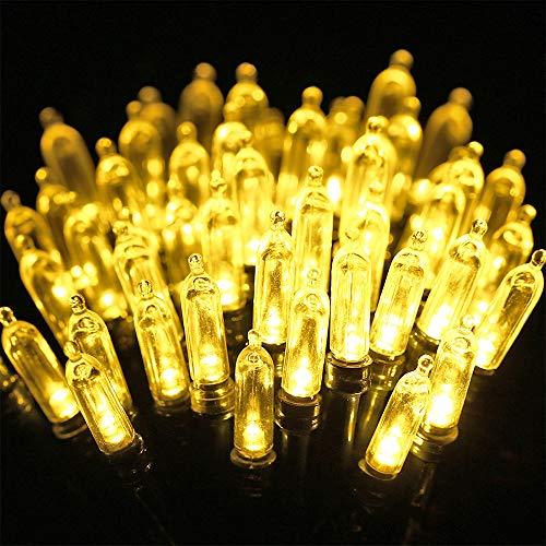 Qedertek Batterie Lichterkette Weihnachtsbaum Lichterkette 10M 100 LED Lichterkette 8 Modi mit Memory Timing Funktion für Innen Außen Garten Party Weihnachten Deko Warmweiß