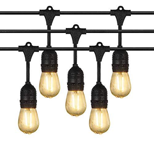 Draußen Lichterketten iEGrow 10 Meter LED Wasserdicht Anschließbar Lichterketten 10 E27 Edison Vintage Glühbirnen für Laubengang Deck Wirtshaus Blumengarten Garden Party