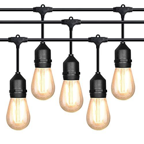 Lichterkette 10m mit 10 Led Glühbirnen Outdoor Lichterkette Außen Lichterkette IP65 Wasserdicht für Garten Party Wehinachten