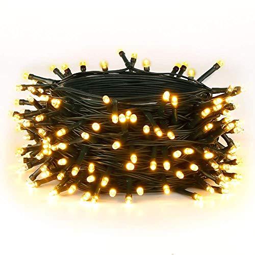 30M Warmes Weiß 300 LEDs 8 Modi-Lichterketten für Weihnachtsbaum Garten Party und Weihnachtsdekoration