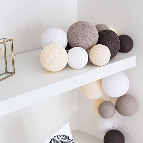 Cotton Ball Lights LED Lichterkette Baumwolle WeißShell  HellbraunMid Braun