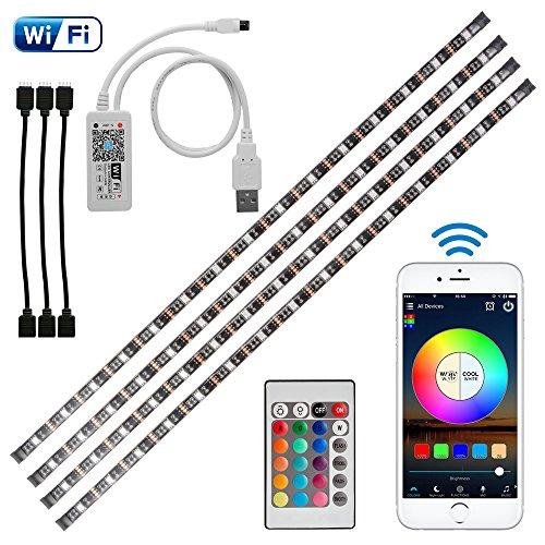 Kreema 4pcs 05m WIFI USB RGB 5050SMD LED Streifen Licht Smart App Steuerung Flexible TV Hintergrund Streifen Licht mit IR-Fernbedienung